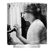 Helen Adams Keller Shower Curtain by Granger