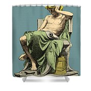 Aristotle, Ancient Greek Philosopher Shower Curtain