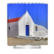 Mykonos Shower Curtain by Joana Kruse