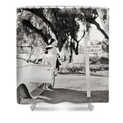 Silent Film: Automobiles Shower Curtain
