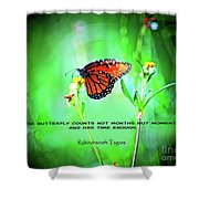 14- The Butterfly Shower Curtain