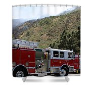 Barnett Fire  Shower Curtain