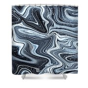 Digital Art Abstract Shower Curtain