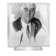 Franklin Delano Roosevelt Shower Curtain