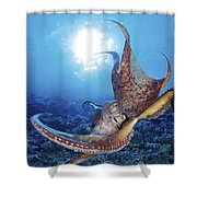 Hawaii, Day Octopus Shower Curtain