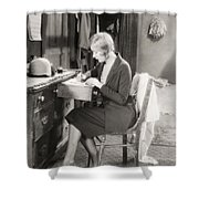 Silent Film Still: Woman Shower Curtain by Granger