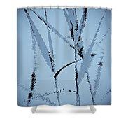 Water Reed Digital Art Shower Curtain