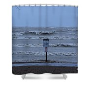 Hurricane Sandy Shower Curtain