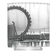 London Eye Art Shower Curtain