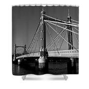 The Albert Bridge London Shower Curtain