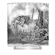 France: Revolution Of 1848 Shower Curtain