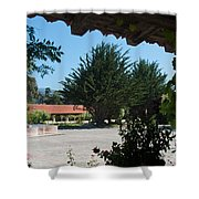 Gardens In Carmel Monastery Shower Curtain
