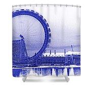 London Eye Art Shower Curtain