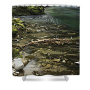 The Soteska Vintgar Gorge Shower Curtain