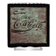Coca Cola Sign Grungy Retro Style Shower Curtain