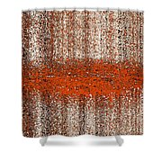 Color Rust Shower Curtain