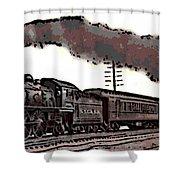 1800's Steam Train Shower Curtain