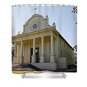 1840s Cataldo Mission - Idaho State Shower Curtain