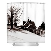 1900 Farm Home Shower Curtain