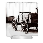 1900 Wagon Shower Curtain