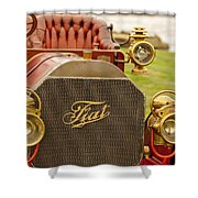 1905 Fiat 60hp Quimby Touring Shower Curtain