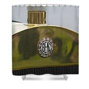 1908 Benz Grand Prix Hood Emblem Shower Curtain