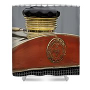 1908 Mercedes 150 Hp Race Car Hood Emblem Shower Curtain