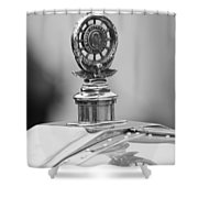 1909 Rolls-royce Silver Ghost Hood Ornament 2 Shower Curtain