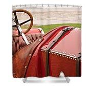 1911 Fiat S61 Steering Wheel Shower Curtain