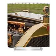 1912 Mercer Model 35 C Raceabout Engine And Motometer Shower Curtain