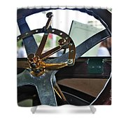 1913 Chalmers - Steering Wheel Shower Curtain