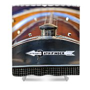 1913 Pathfinder Touring Hood Ornament Shower Curtain