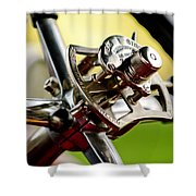 1914 Rolls-royce Silver Ghost Controls Shower Curtain