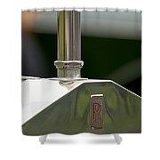 1914 Rolls-royce Silver Ghost Hood Ornament Shower Curtain