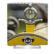 1914 Stutz Series E Bearcat Hood Ornament Shower Curtain