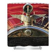 1915 Brewster-knight Model 41 Landaulet Hood Ornament 2 Shower Curtain