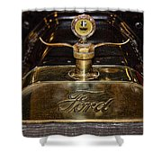 1915 Model-t Ford Hood Ornament Shower Curtain