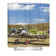 1916 Sopwith Pup Airplane On Airfield Poster Print Shower Curtain