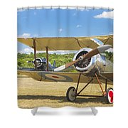 1916 Sopwith Pup Biplane On Airfield Canvas Photo Poster Print Shower Curtain