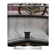 1916 Winton Model 33 Touring Hood Ornament Shower Curtain