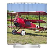 1917 Fokker Dr.1 Triplane Red Barron Canvas Photo Print Poster Shower Curtain
