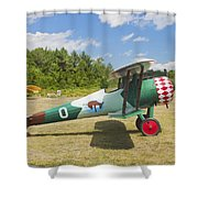 1917 Nieuport 28c.1 Antique Fighter Biplane Canvas Photo Poster Print Shower Curtain