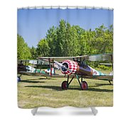 1917 Nieuport 28c.1 World War One Antique Fighter Biplane Canvas Poster Print Shower Curtain