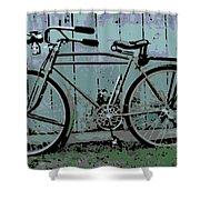 1918 Harley Davidson Bicycle Shower Curtain