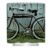 1919 Indian Bike Shower Curtain