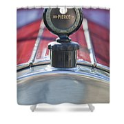 1919 Pierce-arrow Model 48 Dual Valve Roadster Hood Ornament Shower Curtain