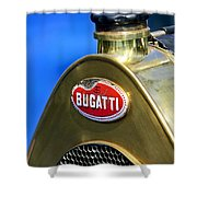 1920 Bugatti Type 13 Grille Emblem Shower Curtain