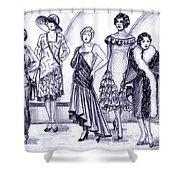 1920s British Fashions Shower Curtain