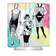 1920s Gals 3 Shower Curtain