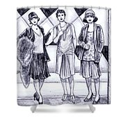 1920s Styles Shower Curtain